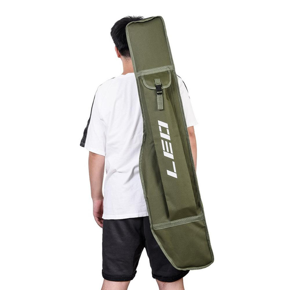 1pc 3.93ft Portable Single Layer Big Belly Fishing Rod Storage Bag