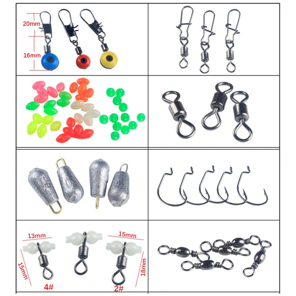 160PCS Fishing Accessories Set