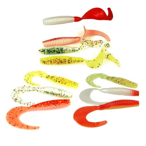 SL00010 10 PCS Soft Worm Jerkbait 3in