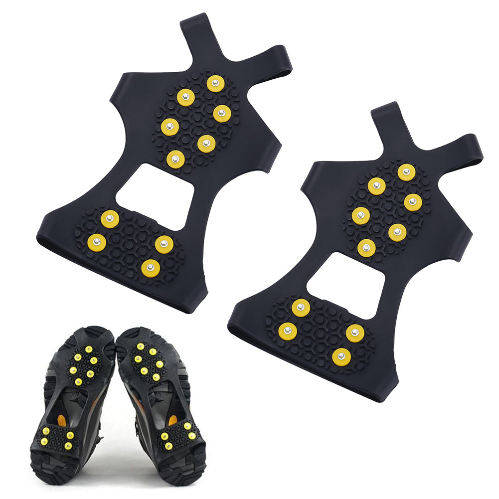 10 Studs Universal Ice Snow Shoe Spiked Grips Cleats