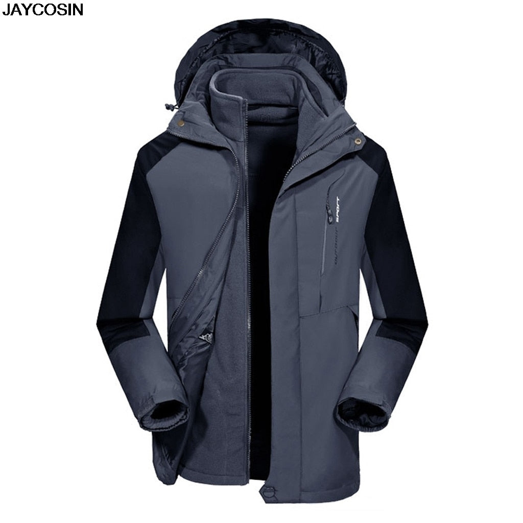 KLV  Three-in-one Detachable  Cold-proof Jacket Windproof Cycling Jackets Sports Coat 9911