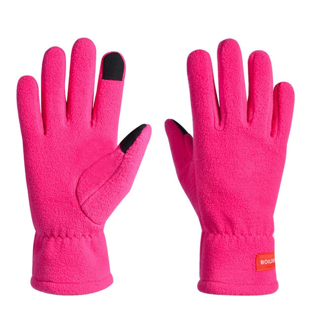 Touch Screen Windproof  Thermal Warm Running Gloves,Anti-slip Cycling Gloves #YL10