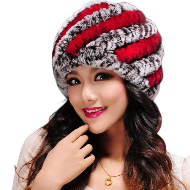 Women Fur Hat For Winter Natural Faux Fur Cap Russian Female Fur Headgear 2019 Famous Brand New Fashion Warm Beanies Cap