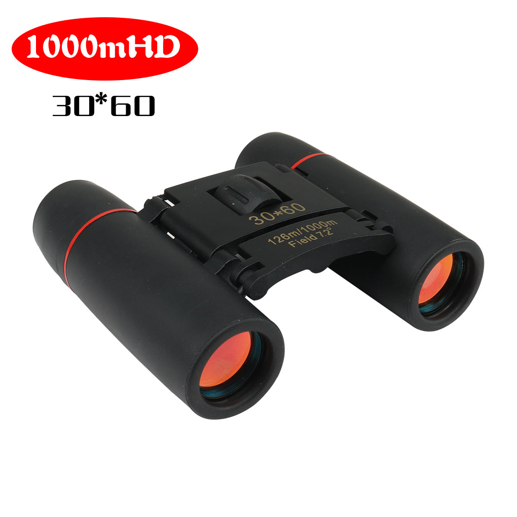 Zoom Telescope 30x60 Folding Binoculars with Low Light Night Vision  Tavelling Hunting Camping 1000m