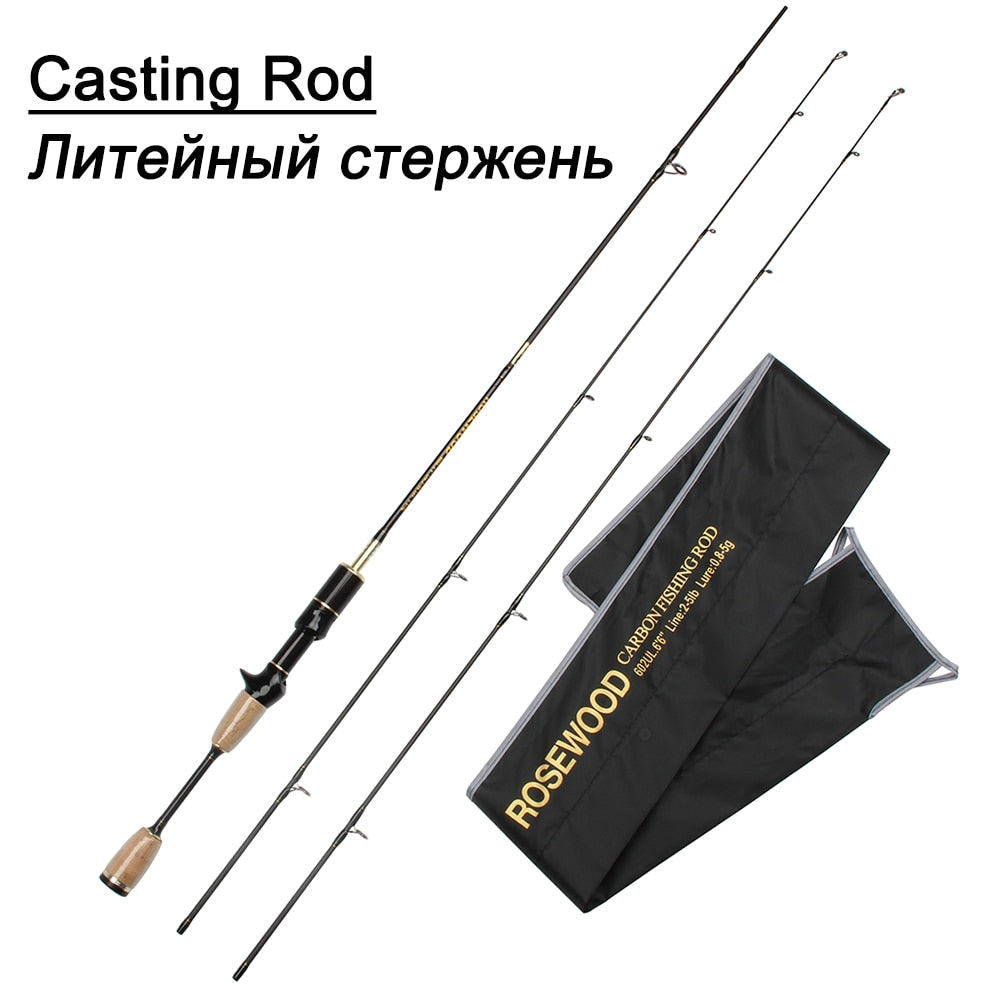 spinning rod 5.9ft 0.8-5g lure weight ultralight spinning rods 2-5LB line weight