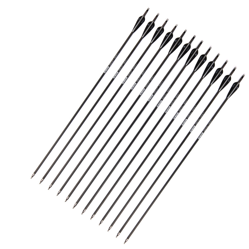 6/12/24pcs 30 Inches Spine 350 Carbon Shaft Arrows