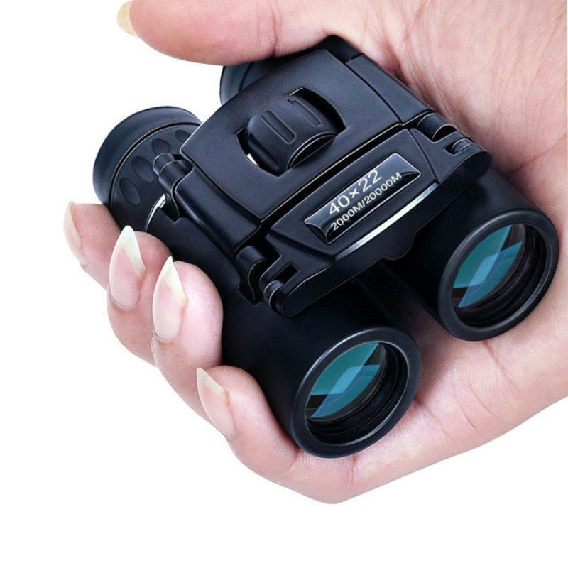 40x22 HD Powerful Binoculars 2000yd Long Range Folding Mini Telescope