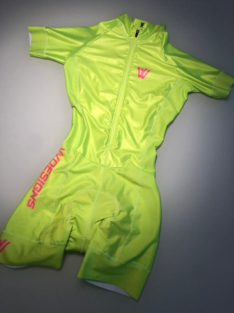 Women triathlon suit clothes Cycling skinsuits body sets Pink