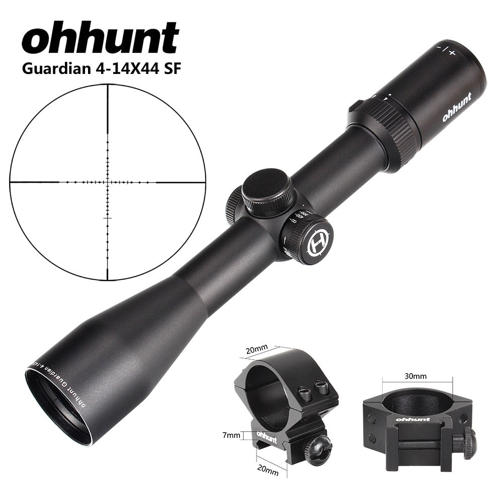 ohhunt Guardian 4-14X44 SF Hunting Rifle Scope 30mm Tube