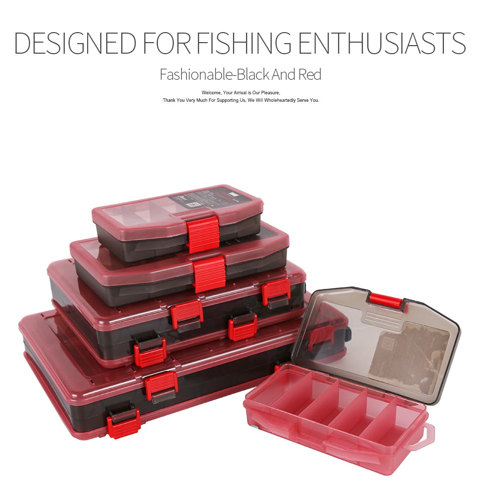 Kingdom  Fishing Lure Tackle Box Double Sided High Strength