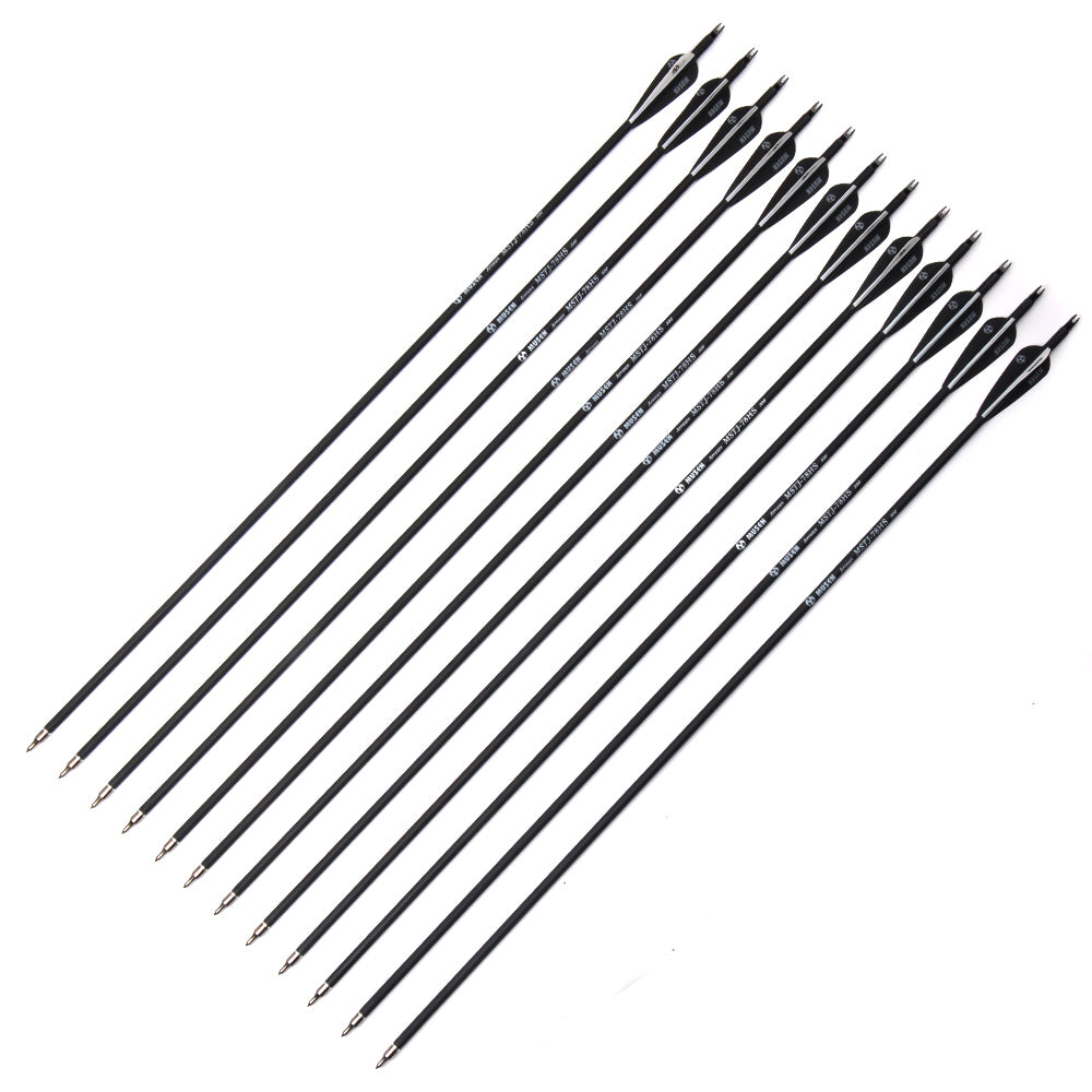 6/12/24pcs/lot 32 inches Spine 500 Carbon Arrows