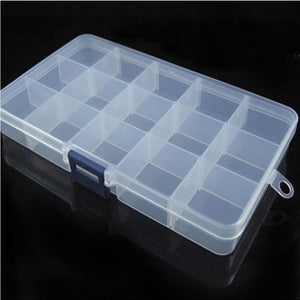 15 Slots Adjustable Plastic  Tackle Box