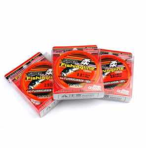 100% Transparent Nylon Fluorocarbon Fishing Lines