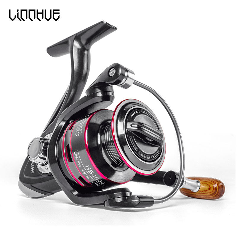 LINNHUE Fishing Reel All Metal Spool Spinning Reel 18lb max drag