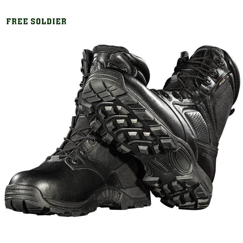 FREE SOLDIER camping hiking waterproof  winter high tactical boots for men