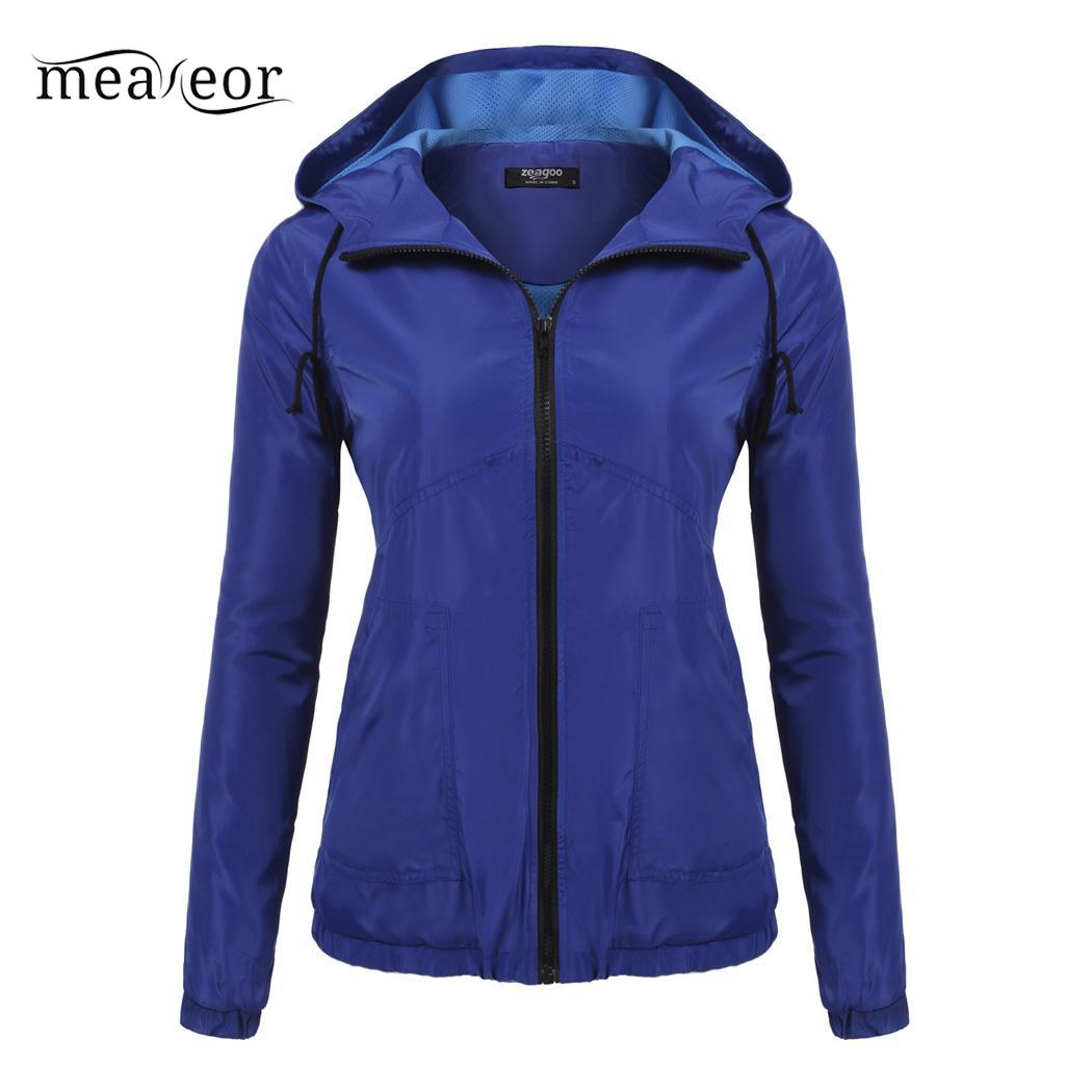 Hooded Jacket Elastic Solid Drawstring Casual Cuffs