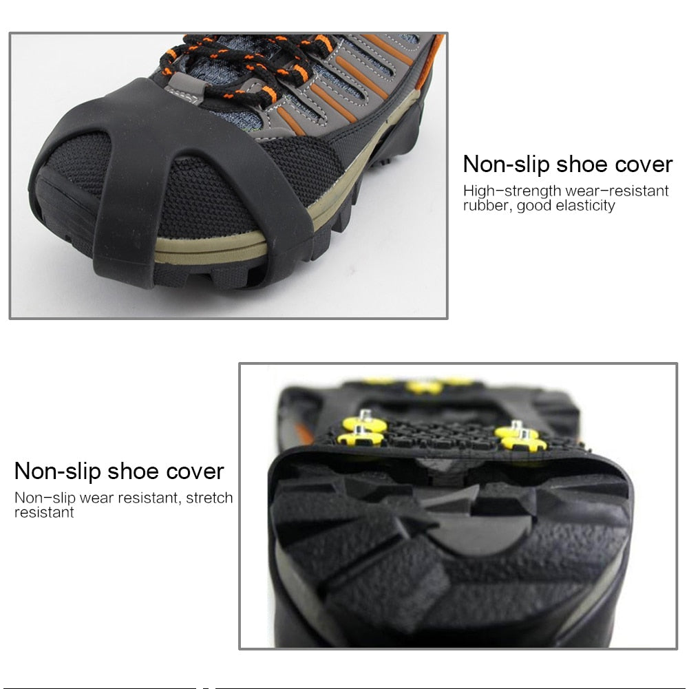 Outdoor Universal Ice Snow Shoe Spiked Grips Cleats  M XL