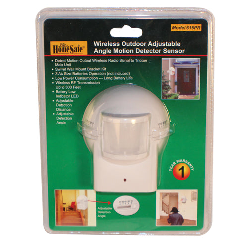 OUTDOOR HOMESAFE WIRELESS HOME SECURITY  MOTION SENSOR