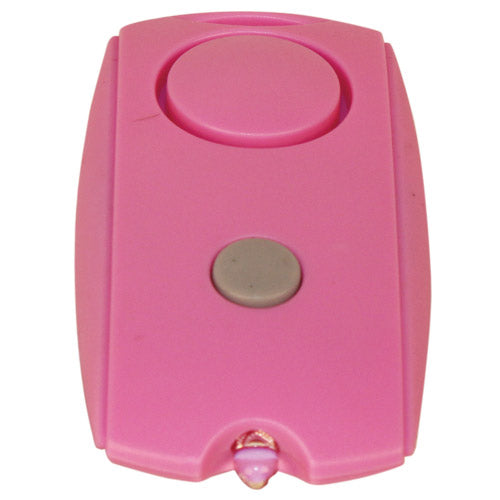 Mini Personal Alarm with LED flashlight and Belt Clip-Pink