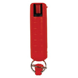 Pepper Shot 1.2% MC 1/2 oz pepper spray hard case belt clip and quick release keychain red