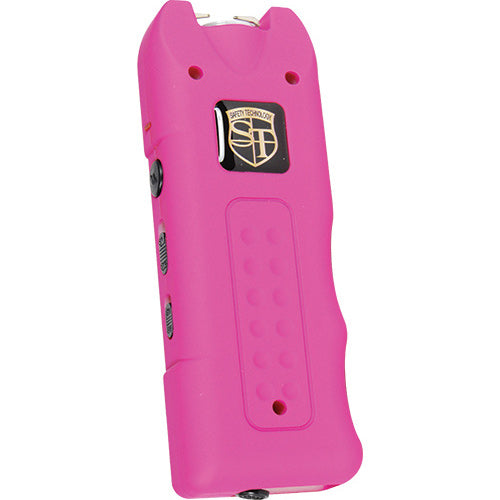 20,000,000 volt MultiGuard Stun Gun Alarm and Flashlight with Built in Charger Pink