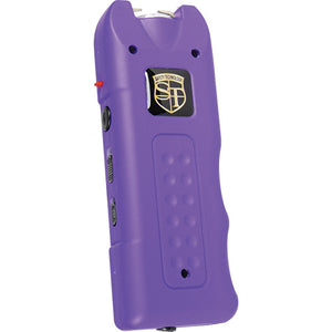 20,000,000 volt MultiGuard Stun Gun Alarm and Flashlight with Built in Charger Purple