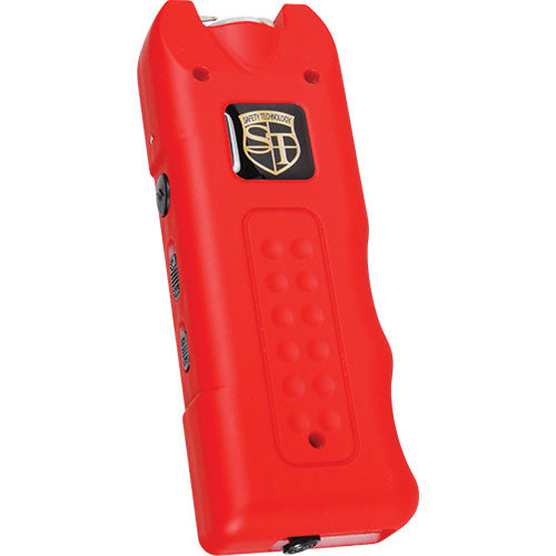 20,000,000 volt MutiGuard Stun Gun Alarm and Flashlight with Built in Charger Red