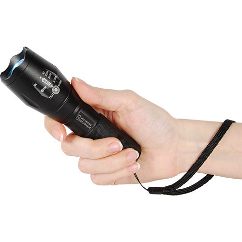 1,200 Lumen LED Self Defense Zoomable Flashlight