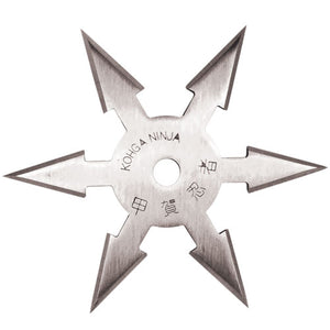 "4"" Stainless Steel 6 Point Single Piece Throwing Star"
