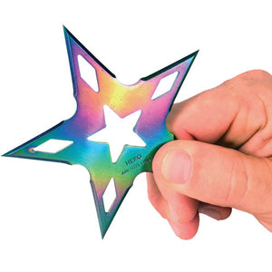 "4"" 5 Point Plasma Throwing Star 3 Pc w/ Nylon Sheath"