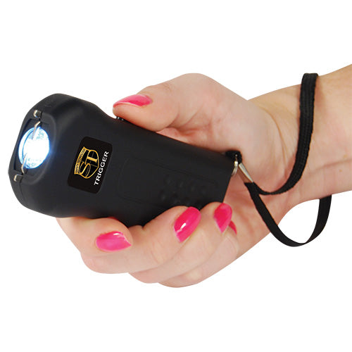 Trigger 18,000,000 Stun Gun Flashlight with Disable Pin -Black