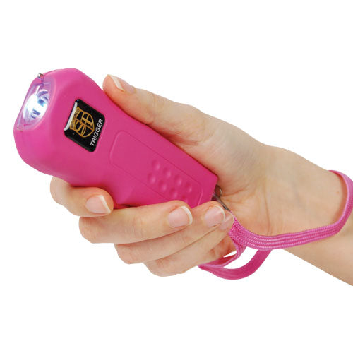 Trigger 18,000,000 Stun Gun Flashlight with Disable Pin-Pink