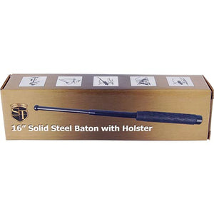 16 inch Rubber Handle Steel Baton