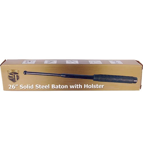 26 inch Rubber Handle Steel Baton