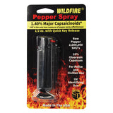 Wildfire 1.4% MC 1/2 oz pepper spray hard case with quick release keychain black