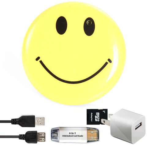Discounted Smiley Face Pin Spy Camera