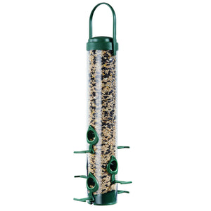 Perky Pet Classic Wild Bird Feeder 6 Port Clear Shatterproof Plastic Outdoor New