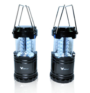 G & F Portable LED Lantern Flashlight Outdoor Hiking Camping 2 Pack Black New