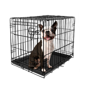 Vibrant Life Dog Crate w/ Divider Single Door Folding Steel Frame X Small 24