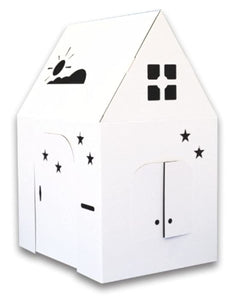 Cardboard Playhouse Reversible Child Safety Sturdy Birthdays Holidays Parties