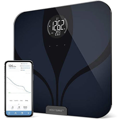 GreaterGoods Bathroom Smart Scale Bluetooth Connected LCD Body Fat Black New