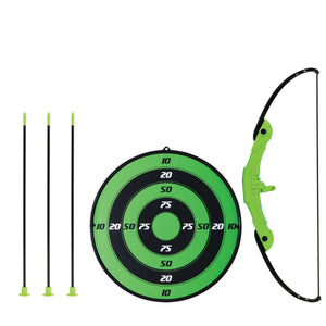 Franklin Sports Indoor Archery Target Set Three Arrows Pre Strung Bow Green New