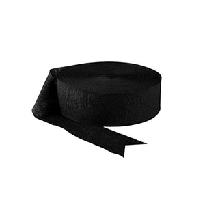 "Amscan Jumbo Roll Crepe Paper Steamer 500"" Long Jet Black Party Decor Supply New"