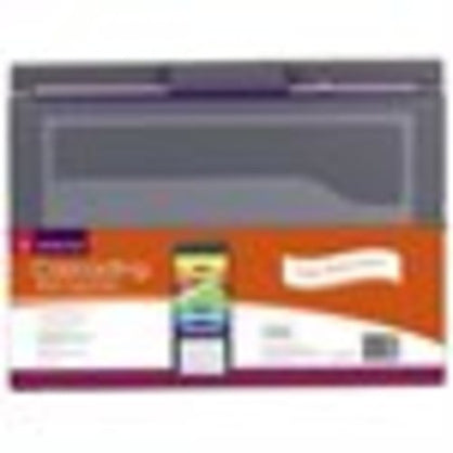 Smead Cascading Wall Organizer 6 Storage Clear Pockets Letter Size Gray Bright