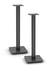Atlantic Adjustable Speaker Stands Pedestal Steel Bookshelf 2 Pack Black New