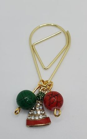 Christmas hat Tear Drop Charm