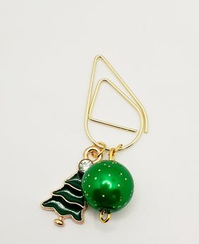 Green Christmas Tree Charm