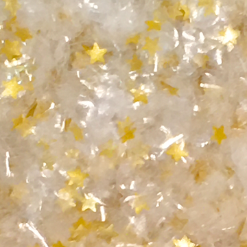 Clear Glitter Flakes With Gold Stars Metallic Edible Shimmer Sparkle Glitter For Cakes And Cupcakes 2oz Jar