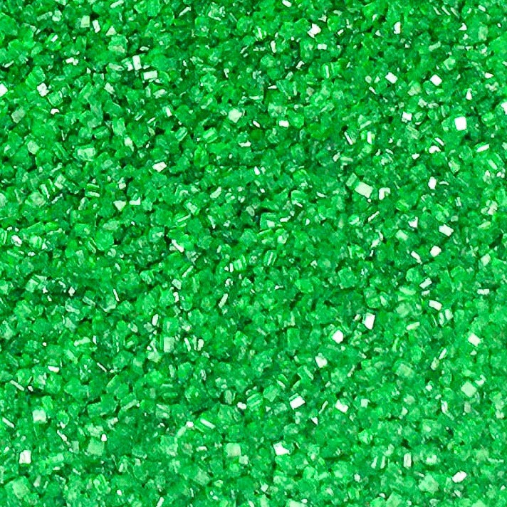 Green Extra Fine Sparkling Colored Edible Cake Cookie Cupcake Icecream Donut Sparkle Sanding Sugar 6oz