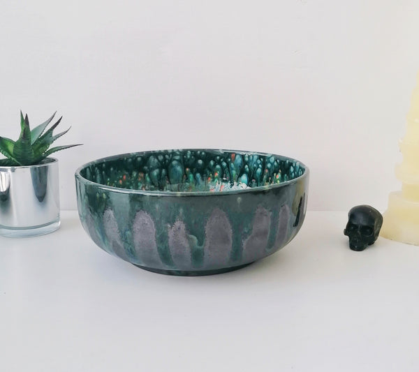 Crystal Glaze Fruit Bowl